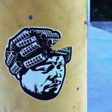 Sticker Art, Guy West Bridge Sacramento, CA