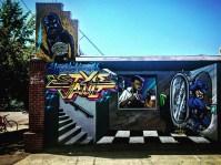 "Skinner (monster up top), ""Style Vault"" by Mynas at Good Hands Barbershop, 2416 16th Street, Sacramento, CA"