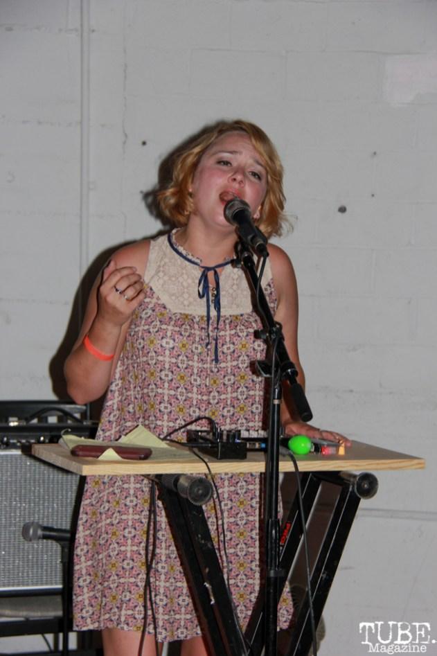 Keyboardist of Dog Rifle, Sac Stay Home Fest, Red Museum, Sacramento, CA. August 13, 2016. Photo Anouk Nexus
