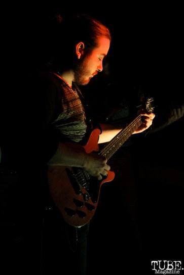 -Guitarist Corey Bakarich of The Happy Medium, Sac Stay Home Fest, Red Museum, Sacramento, CA. August 13, 2016. Photo Anouk Nexus