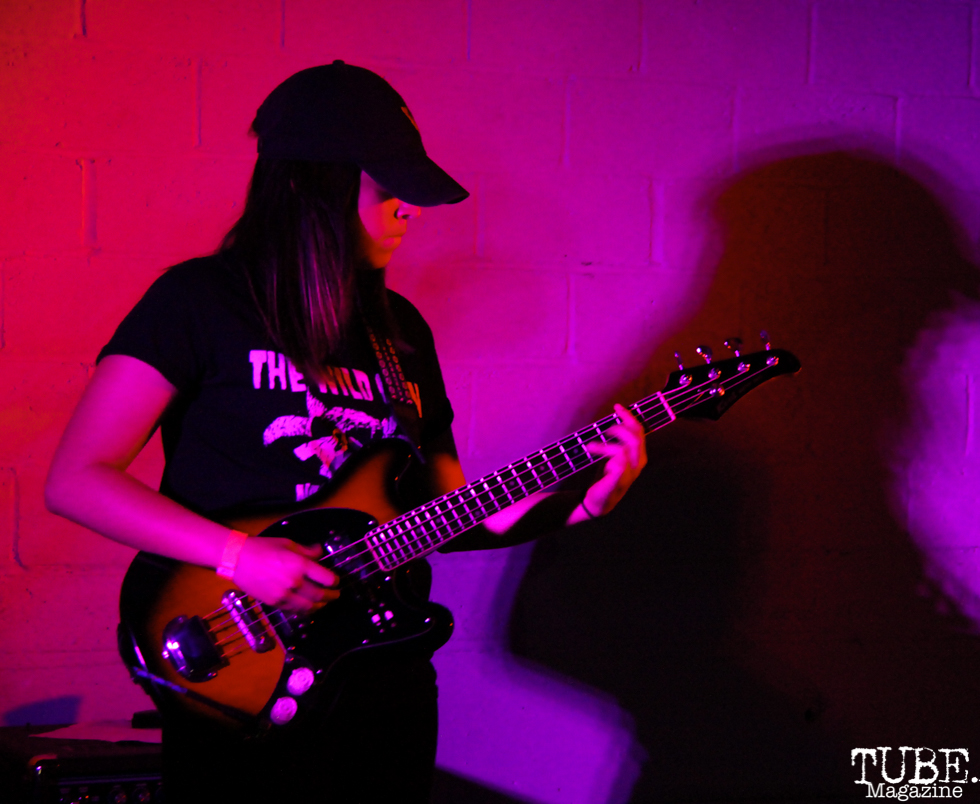 Bassist of Privileges, Sac Stay Home Fest, Red Museum, Sacramento, CA. August 13, 2016. Photo Anouk Nexus