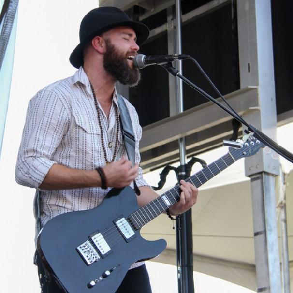 Guitarist Jarrett Steil of The Rebel Light, City of Trees, Bonney Field, Sacramento, CA. September 10, 2016. Photo Anouk Nexus