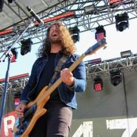 Bassist Jared Hornbeek of The Unlikely Candidates, City of Trees, Bonney Field, Sacramento, CA. September 10, 2016. Photo Anouk Nexus