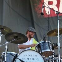 Drummer of Andrew Mcmahon In The Wilderness, City of Trees, Bonney Field, Sacramento, CA. September 10, 2016. Photo Anouk Nexus