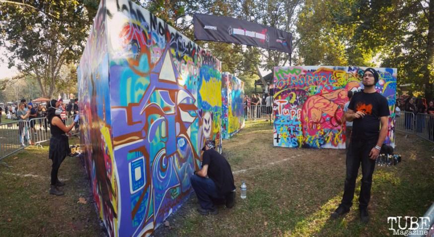 Local Sacramento artists painting, Aftershock, Discovery Park, Sacramento, CA. October 23, 2016. Photo Anouk Nexus