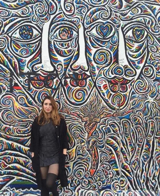Jennifer Jackson at the Berlin Wall. Photo: Brett Loper.