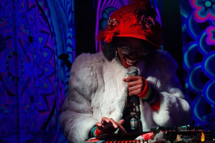 SpaceWalker performing at TUBE.'s dance party and coloring book issue release, DOPE. The Press Club, Sacramento CA. April 2017. Photo Joey Miller.