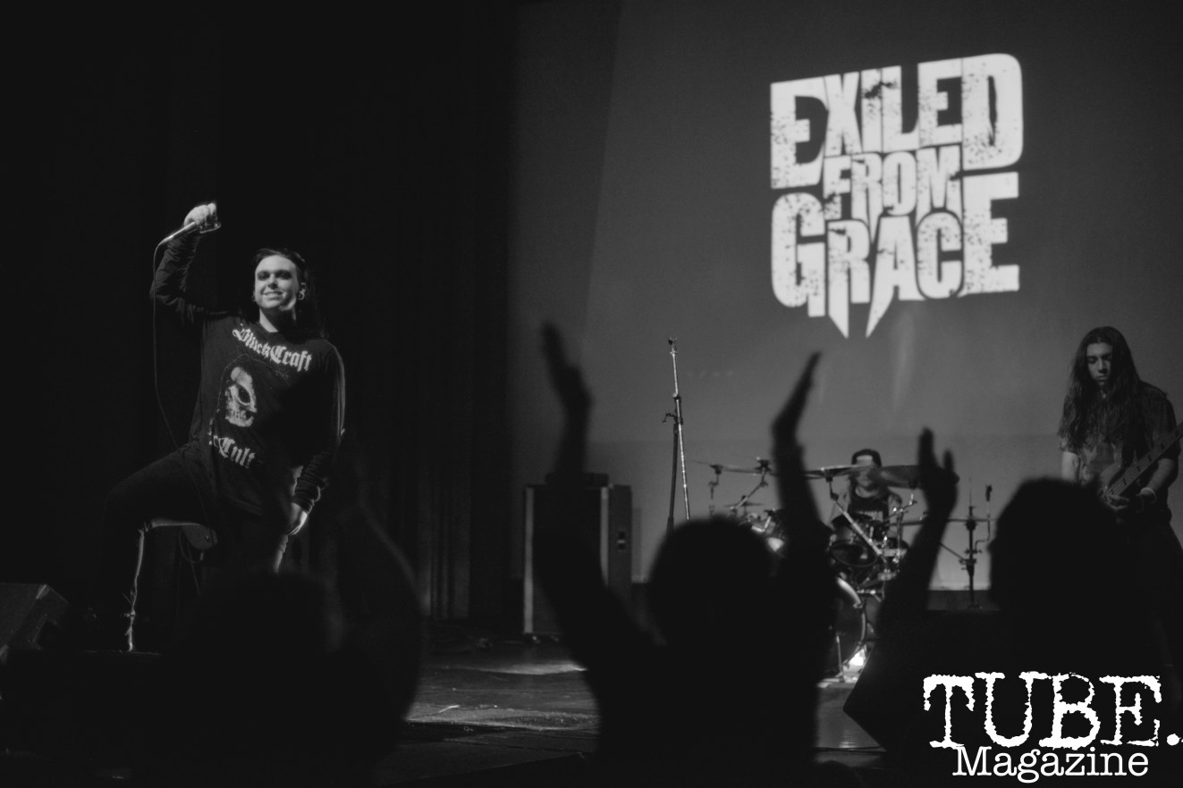 Exiled From Grace Franz at Colonial Fest in Sacramento, CA, March 26, 2017. Photo by Emma Montalbano.