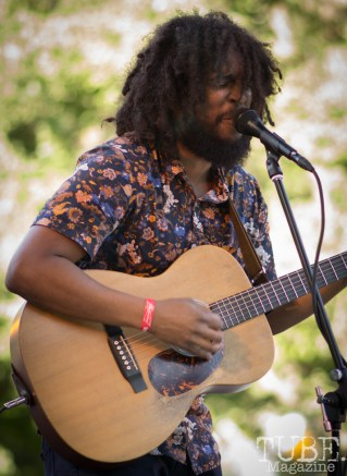 Josh Lane, Singer and Guitarist for Josh Lane and the Heartfelt. Concert in the Park, Sacramento CA 2017 Photo Dan Tyree