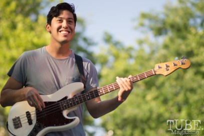 Julian Paz, Bassist for Josh Lane and the Heartfelt. Concert in the Park, Sacramento CA 2017 Photo Dan Tyree