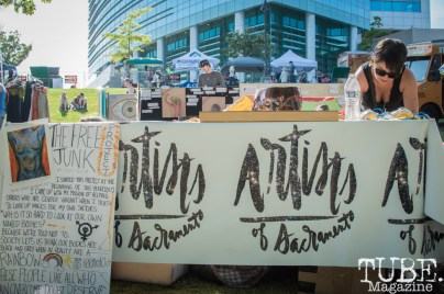 Artist of Sacramento's booth at First Fest, in West Sacramento CA. May 2017. Photo Heather Uroff.