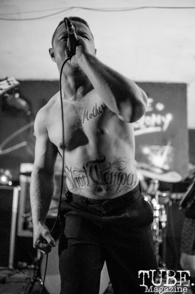 Lead Singer Short Temper performing at Colonial Fest, in Sacramento CA. May 2017. Photo Heather Uroff