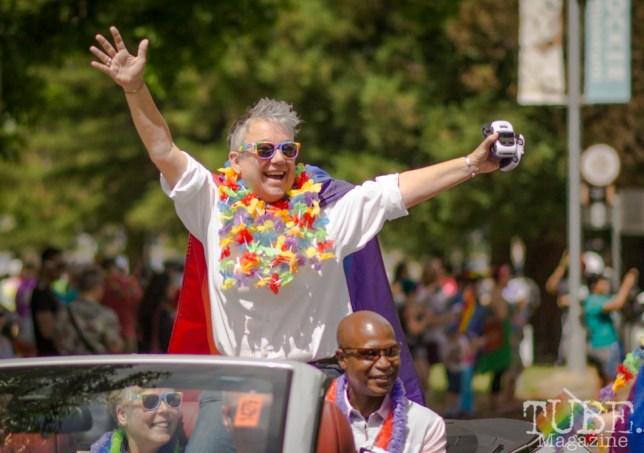 Grand Marshal Tina Reynolds, Sacramento Pride Festival, Sacramento, CA. June 2017. Photo: Dan Tyree