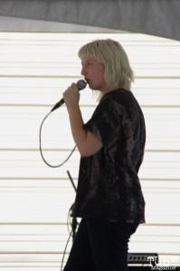 Vocalist Alexandra Steele of Sunmonks, R Street Block Party and Makers Mart, WAL Public Market, Sacramento, CA. June 24, 2017. Photo Anouk Nexus