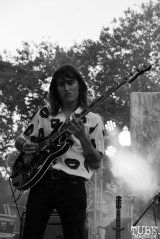 Bassist Trevor James Sutton of Vista Kicks, Concerts in the Park, Cesar Chavez Park, Sacramento, CA. June 30, 2017. Photo Anouk Nexus