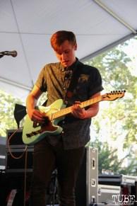 Guitarist Jared Cambridge of A Foreign Affair, Concerts in the Park, Cesar Chavez Park, Sacramento, CA. June 2, 2017. Photo Anouk Nexus