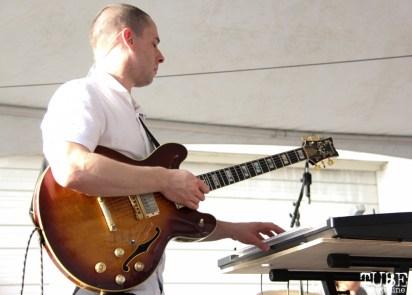 Guitarist/Keyboardist Ben Edrington of Doombird, R Street Block Party and Makers Mart, WAL Public Market, Sacramento, CA. June 24, 2017. Photo Anouk Nexus