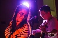 Danae of Sunhaze performing in Sacramento CA for Ladyfest. July 22, 2017. Photo Cam Evans