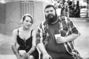 Artists, Gabriel Sanford and Athena Alber, enjoying Concert at the Park, in Sacramento Ca. June 2017. Photo Heather Uroff.