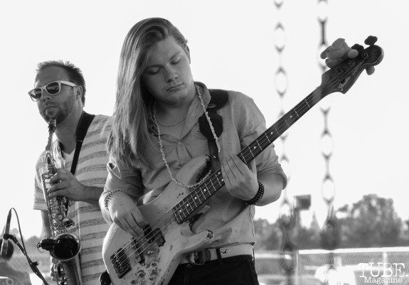 Bassist Tristan McNay of Our People, City of Trees, Papa Murphy's Park, Sacramento, CA. September 24th, 2017. Photo Anouk Nexus