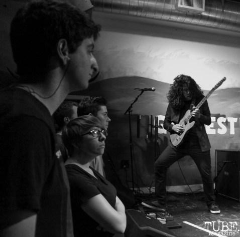 Guitarist Sergio Medina of Stolas, Goldfield Trading Post, Sacramento, CA. September 5, 2017. Photo Anouk Nexus