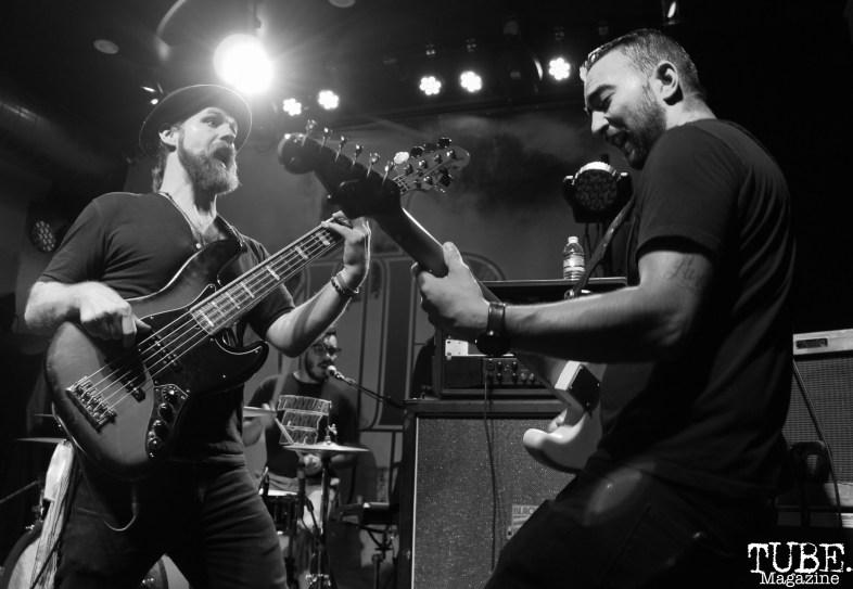 Bassist Jeff Jarvis and Guitarist John Baab of The Reign Of Kindo, Goldfield Trading Post, Sacramento, CA. September 5, 2017. Photo Anouk Nexus
