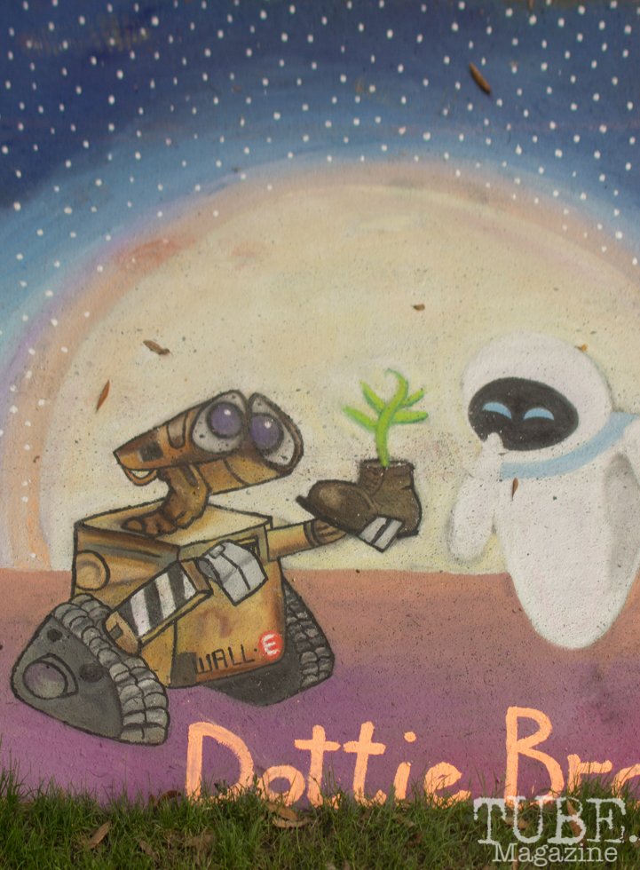 Wall-e, Chalk It Up, Fremont Park, Sacramento, CA, September 4, 2017 Photo Dan Tyree