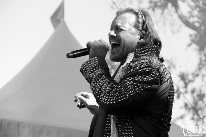 Vocalist Chris Jericho of Fozzy, Aftershock, Discovery Park, Sacramento, CA. October 22, 2017. Photo Anouk Nexus