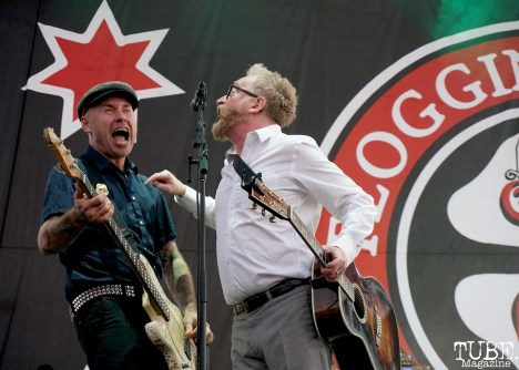 Dennis Casey and Dave King of Flogging Molly, Punk in Drublic Craft Beer and Music Festival at Papa Muphy's Park, Sacramento CA, October 15th 2017. Photo Joey Miller