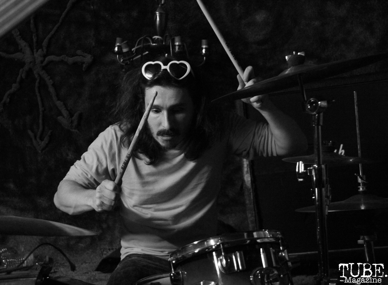 Devin Grant on drums for Instagon performing at Casa de Chaos, in Sacramento Ca. December 15th 2017. Photo Anouk Nexus