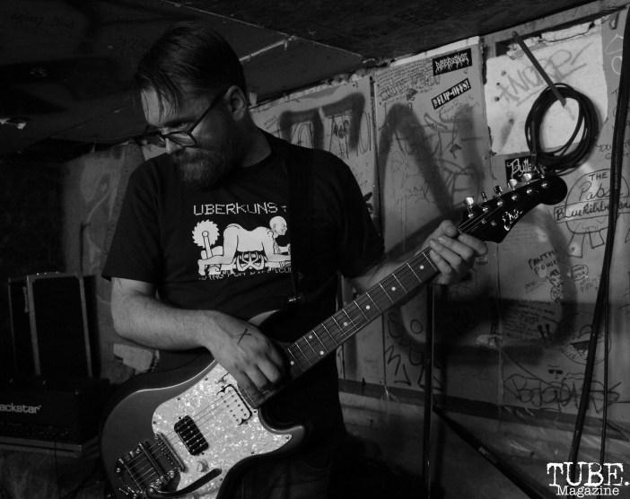 Jim Willig on guitar for Instagon performing at Casa de Chaos, in Sacramento Ca. December 15th 2017. Photo Anouk Nexus