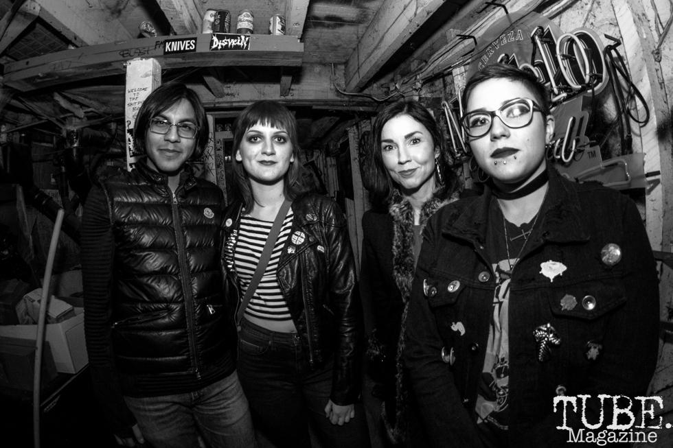 Regular attendees of Casa De Chaos in Sacramento,CA (12/15/2017). Photo Cam Evans
