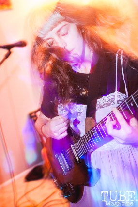 Burd of Burd performing at The Morgue in Davis, CA (1/20/2018). Photo Cam Evans