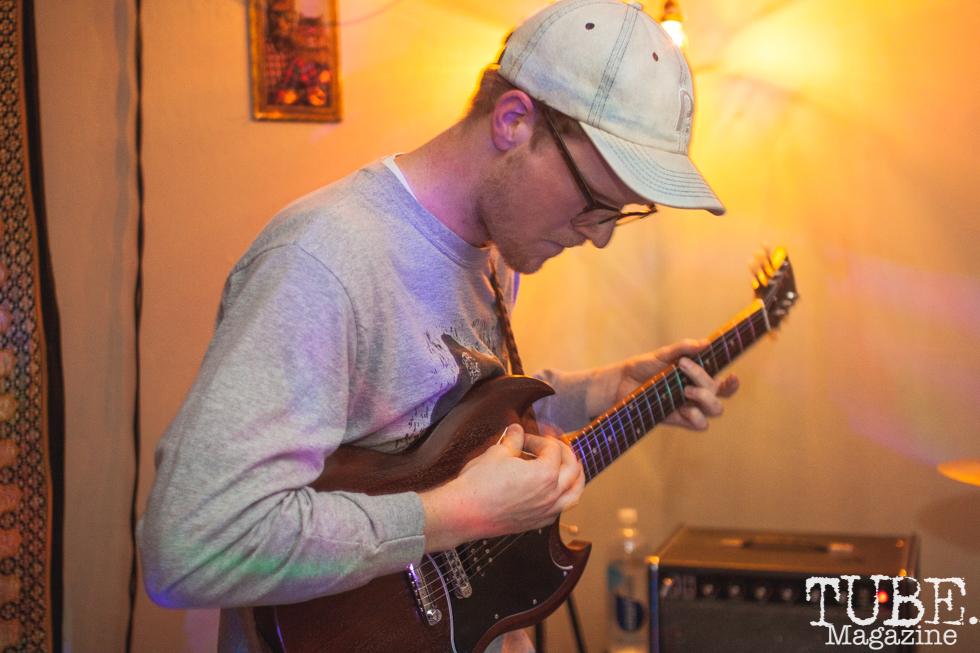 Phil of Yawzea performing at The Morgue in Davis, CA (1/20/2018). Photo Cam Evans