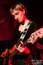Hannah Valente of Same Girls and The She's performing at Cafe Colonial in Sacramento, CA (1/10/2018). Photo Cam Evans