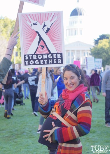 Nitza Bezzeridies-Pinder in front of the California Capitol building, Sacramento CA. January 2018. Photo Joey Miller