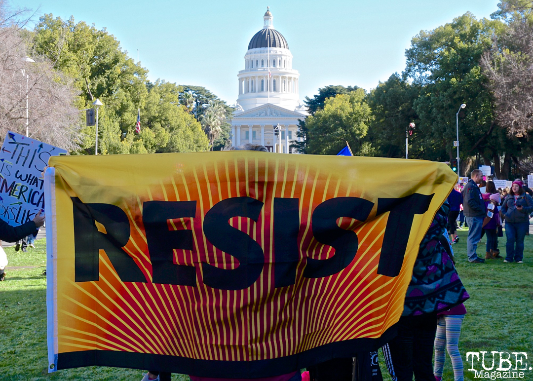 Faces in the Crowd along the Women's March, Sacramento CA. January 2018. Photo Joey MillerFaces in the Crowd along the Women's March, Sacramento CA. January 2018. Photo Joey Miller