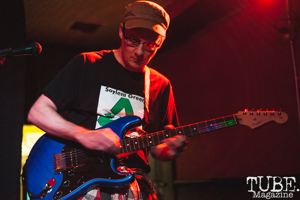 John of Sir Corduroy performing at Cafe Colonial in Sacramento for Instagon's 25th anniversary show (2/2/2018). Photo Cam Evans