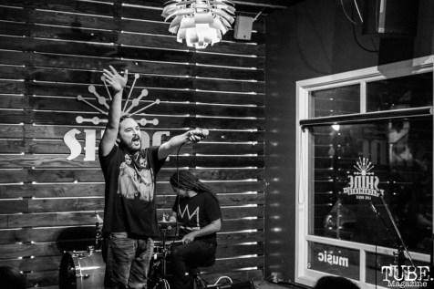 Anthony Giovanini of Sparks Across Darkness, Shine, Sacramento, CA. February 2, 2018. Photo Mickey Morrow