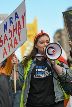 Cameron Price, The March For Our Lives, Sacramento CA, March 24, 2018. Photo Daniel Tyree