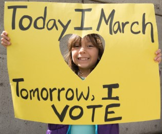 Ava Ixchel, The March For Our Lives, Sacramento CA, March 24, 2018. Photo Daniel Tyree