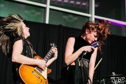 Guitarist Whitney Petty and Vocalist Molly Sides of Thunderpussy, ArtMix Fierce, Crocker Art Museum, Sacramento, CA. March 8th, 2018. Photo Mickey Morrow