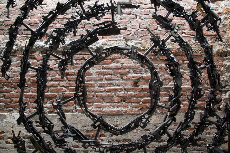 Piece by Alvaro Cuevas at the Museum of Drug Policy, Mexico City. Photo: © Janet Jarman/Redux for the Open Society Foundations