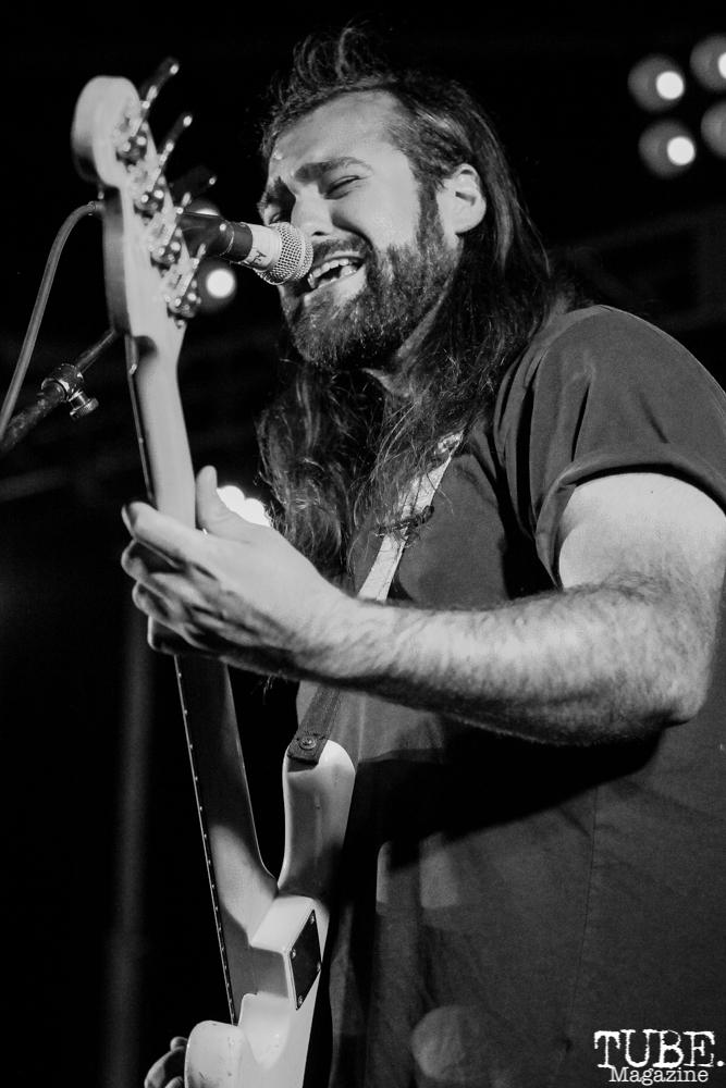 Matt Coate bassist/vocalist of A Lot Like Birds, First Festival, Tanzanite Park, Sacramento, CA, May 6th, 2018, Photo by Anouk Nexus