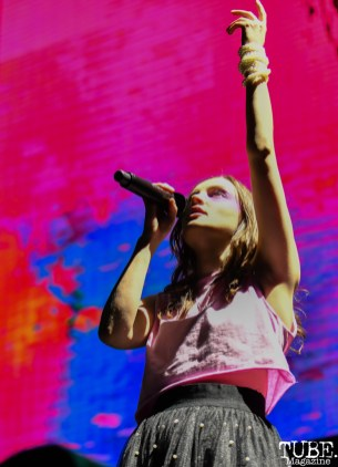 Lauren Mayberry of CHVRCHES, City of Trees, Papa Murphy's Park, Sacramento, CA, September 22, 2018, Photo by Daniel Tyree