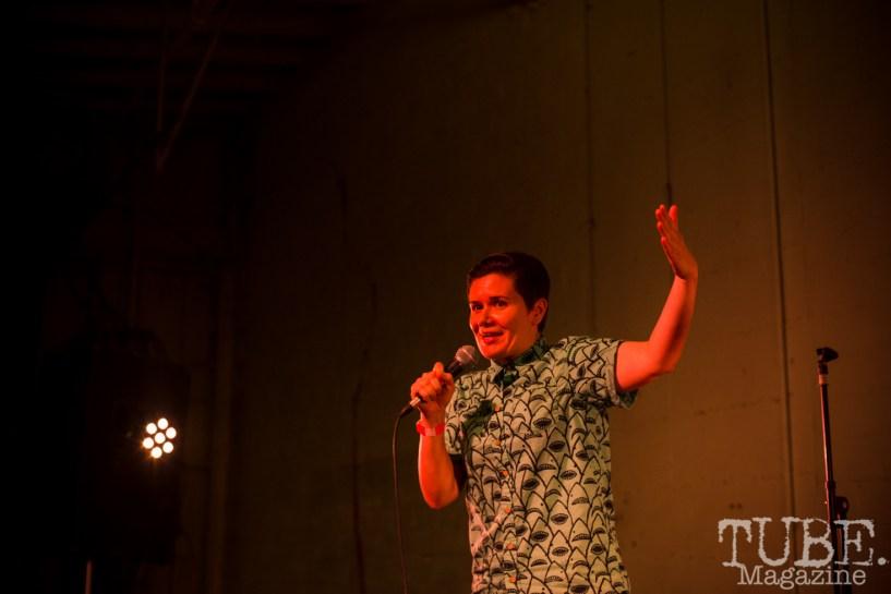 Comedian Melissa McGillicuddy, Red Ex ll, Red Museum, Sacramento CA. September 22, 2018. Photo Melissa Uroff