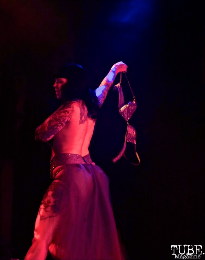 Cyanide Cyn performs at The Grrrly Show Harlow's Night Club September 13th, 2018, Photo by Joey Miller
