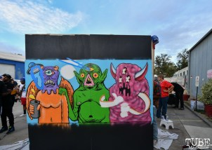 Dope collaboration by M.P Young, Lynn Tobin, and Ashton D. Bohm, Work in Progress, Tin Can Studios, Sacramento, CA, September 30, 2018. Photo by Daniel Tyree