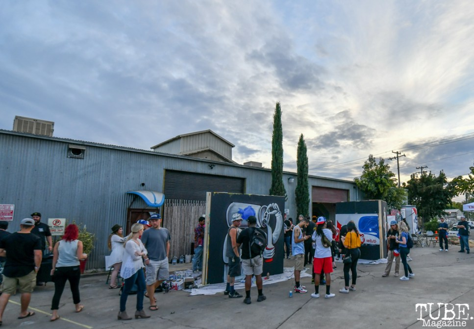 Attendees of Work in Progress, Tin Can Studios, Sacramento, CA, September 30, 2018. Photo by Daniel Tyree