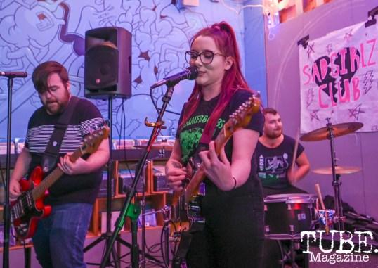 Sad Girlz Club, Sacramento is Burning Release Party, Phono Select Records, Sacramento CA. Photo Daniel James.